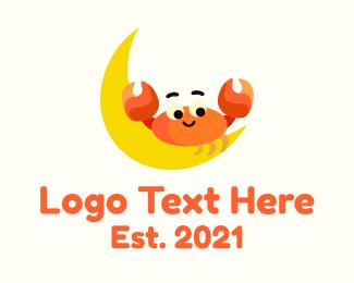 Crab - Crab Moon Astrology logo design