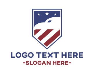 Politician - American Eagle Shield logo design