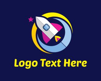 Astral - Colorful Rocket logo design