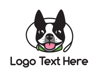 Dog Sitting - Boston Terrier Dog logo design