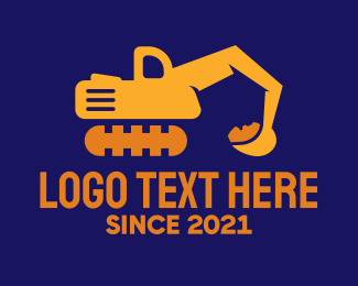 Digging - Modern Excavator Machine logo design