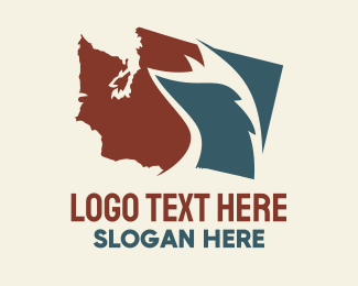 Washington - Washington Map Skunk logo design