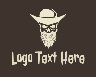 Ranger - Cowboy Skeleton logo design
