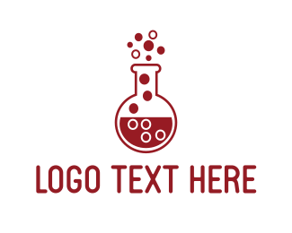Chemist - Red Test Tube logo design