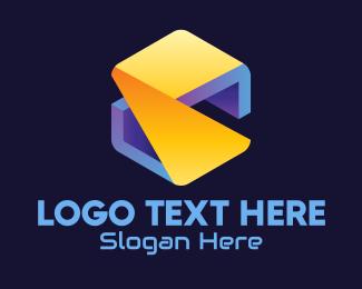 Packaging - 3D Cube Letter S logo design