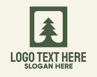 Christmas Card - Pine Badge logo design