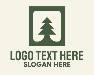 Pine - Green Pine Tree logo design