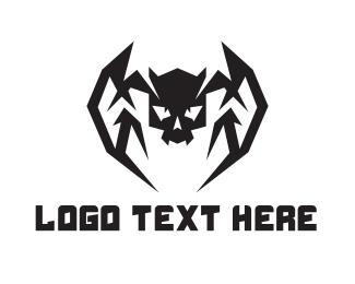 Cranium - Fang Skull logo design