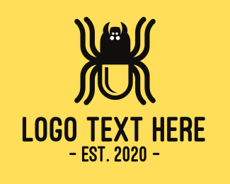 Malware - Black Spider Pill logo design