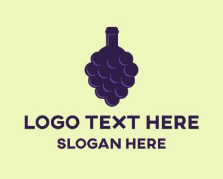 Grape - Grape Bottle logo design