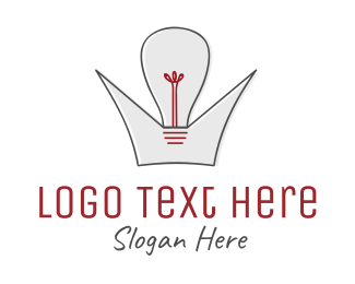 Idea -  Crown King of Ideas logo design