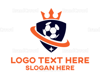 Soccer - Soccer Ball Football Club Shield logo design