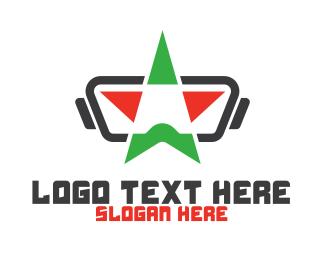 Augmented Reality - Geometric Star VR logo design