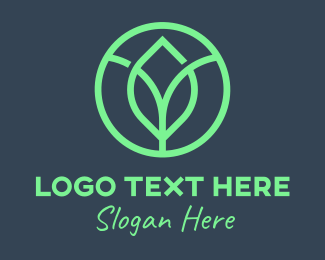 Nature Conservation - Green Organic Leaf logo design