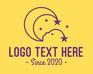 Baby - Sleeping Baby Child logo design