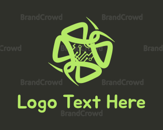 Smart - Circuit Flower logo design