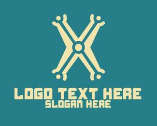 Electronics - Electronics Letter X logo design