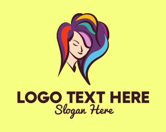 Stylist - Hair Color Stylist logo design