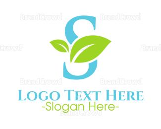 Salon - Eco Letter S logo design