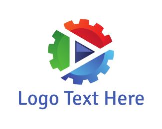 Industry - Gear Media logo design