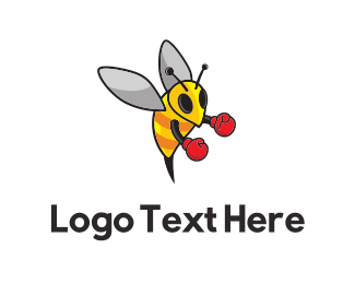 Bee - Boxing Bee logo design
