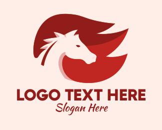 Horse Racing - Fire Horse logo design