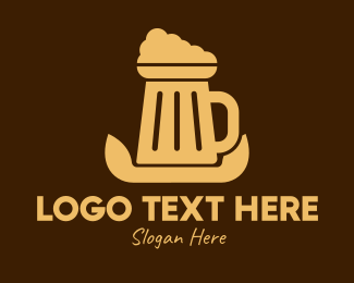 Mug - Beer Foam Mug  logo design