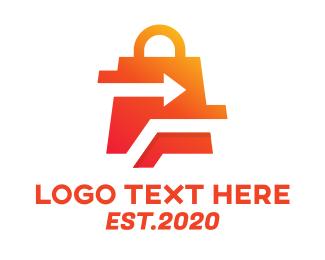Online Delivery - Online Delivery Shopping Bag logo design