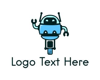 Antenna - Unicycle Robot logo design