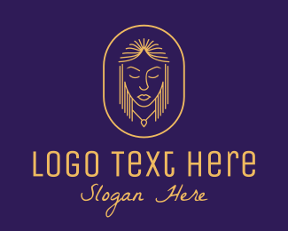 Skin Care - Stylish Necklace Hair Salon logo design