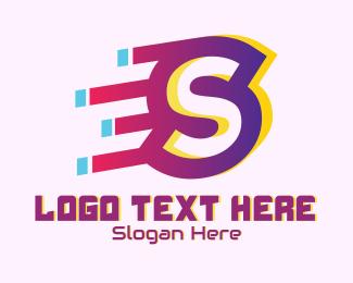 Gadget Store - Speedy Letter S Motion logo design