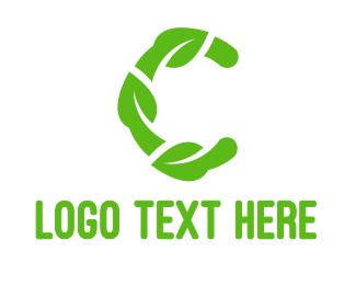 Sauna - Abstract Leafy C logo design