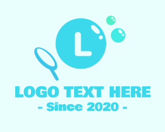 Toy - Blue Bubble Toy Lettermark logo design