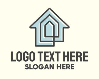 Builder - House Maze Line logo design