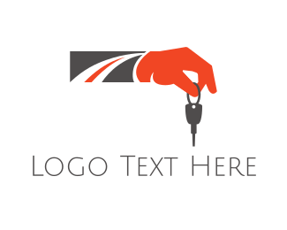 Car Dealership - Road Key logo design