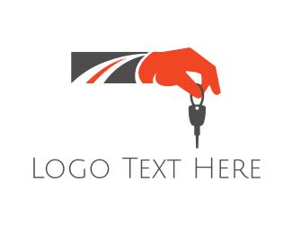 Street - Road Key logo design