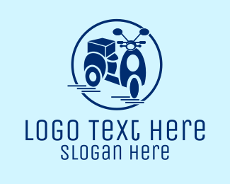 Delivery Man - Delivery Scooter  logo design