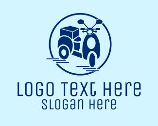 Motorist - Delivery Scooter  logo design