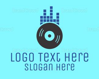 Producer - Sound Wave Record logo design
