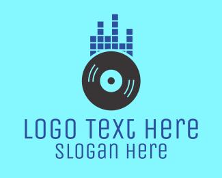 Dj - DJ Equalizer Record logo design