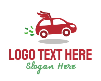 Car - Winged Car logo design