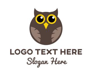 Birdie - Round Owl logo design
