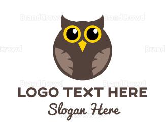 Adorable - Round Owl logo design