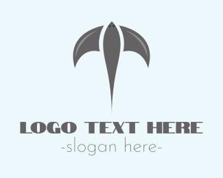 Manta Ray - Flying Stingray  logo design