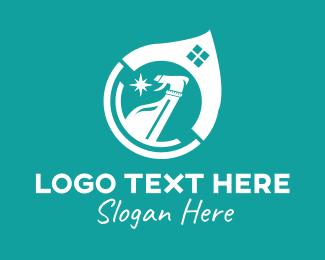 Hygiene - House Disinfectant Cleaning Spray logo design