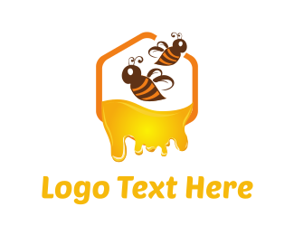 Bumblebee - Honey & Bees logo design