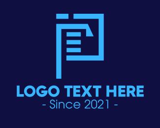 File - Document File Letter P logo design