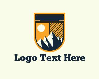 Highlands - Mountains  Emblem logo design