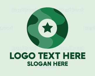 Camouflage - Military Letter O logo design