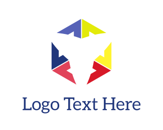 Case - Abstract Colorful Cube logo design